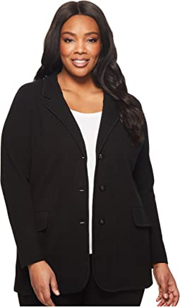 Plus Size Knit Sweater Blazer