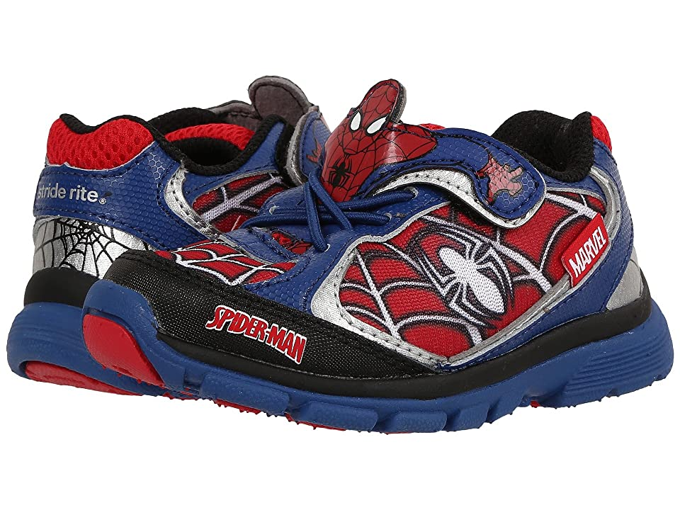 Stride Rite Spider-Man Lighted (Toddler) (Blue/Red) Boys Shoes