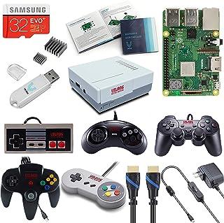 V-kits Raspberry Pi 3Modèle B + (B Plus) rétro Arcade kit de jeu avec Multi Retro Gaming Controller Set: rétro Manette d...