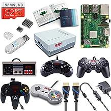 V-Kits Raspberry Pi 3 Model B+ (B Plus) Retro Arcade Gaming Kit with Multi Retro Gaming Controller Set-Includes: NES, SNES...