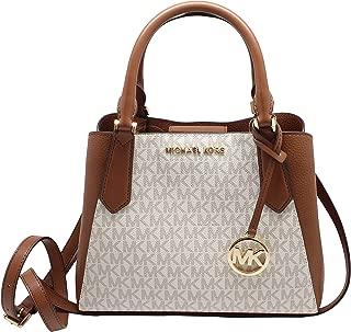 Kimberly Small Satchel Crossbody Top Handle Signature Bag Vanilla