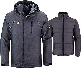 Men's Interchange 3 in 1 Ski Jacket Waterproof Coat Detachable Liner