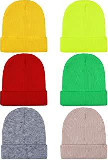 Kid's Winter Beanies Knitted Warm Cold Weather Beanie Hats Boys Girls Caps