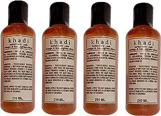 Khadi Orange And Lemongrass Body Wash, 210ml (Pack of 4) by Parvati Gramodyog Herbal Products - Made in India