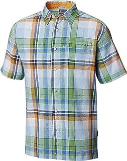 Columbia 男士 Harbor 侧亚麻露营衬衫,中号,纯*多格子