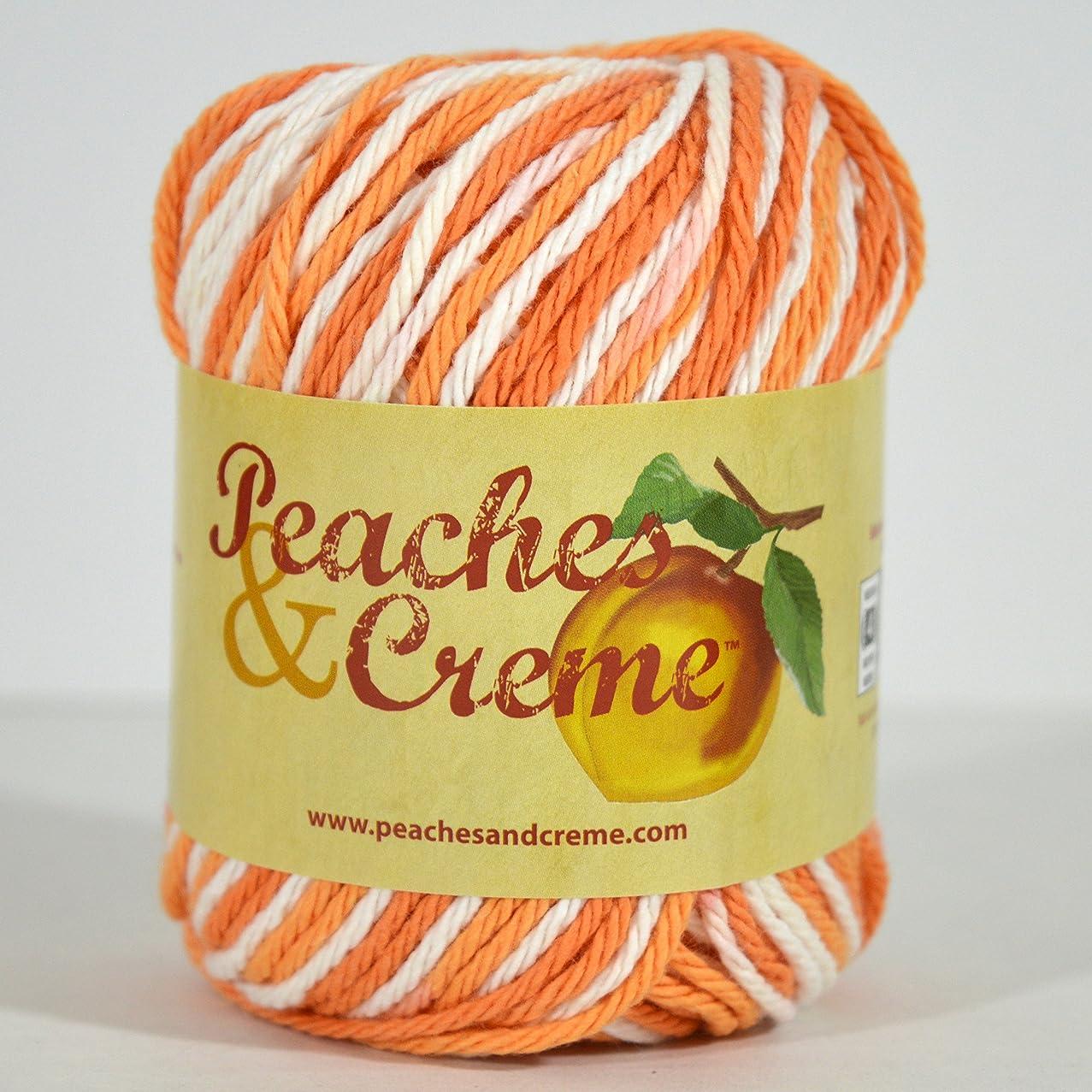 Spinrite Peaches & Creme (Cream) Cotton Yarn Poppy 2 oz