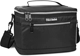 Tirrinia Insulated Lunch Bag for Women Men, Leakproof Thermal Reusable Lunch Box Tote for Adult & Kids by Tirrinia, Lunch Cooler for Office Work, Black