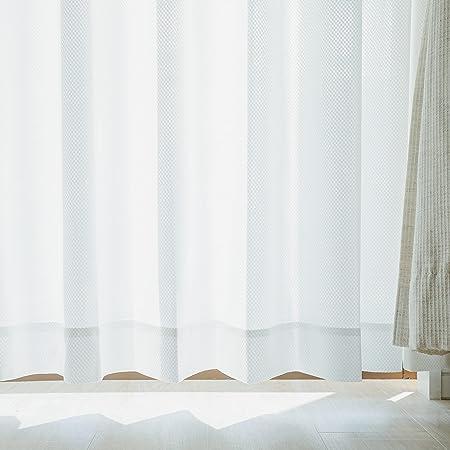 グラムスタイル 日本製 ミラーレースカーテン 夜も透けにくい 遮熱 断熱 洗える 遮像 2枚組 (幅 100cm x 丈 188cm x 2枚)