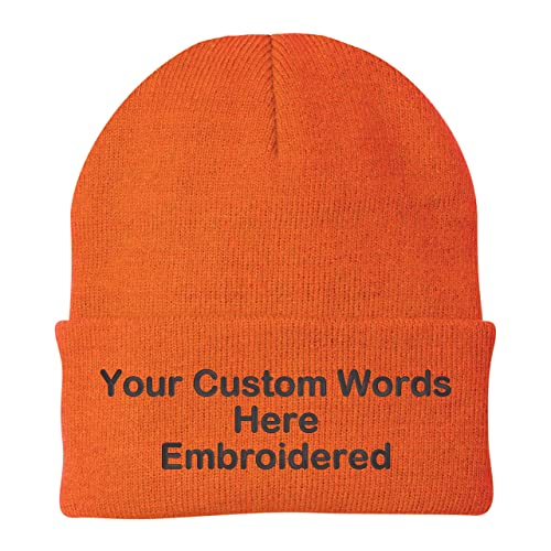 Unameitcustom Customize Your Beanie Personalized with Your Own Text Embroidered