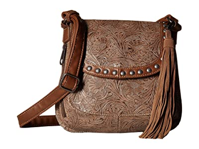 M&F Western Ariana Conceal Carry Crossbody (Brown) Handbags