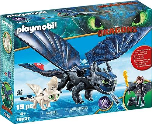 Playmobil - Krokmou et Harold avec Bébé Dragon - 70037