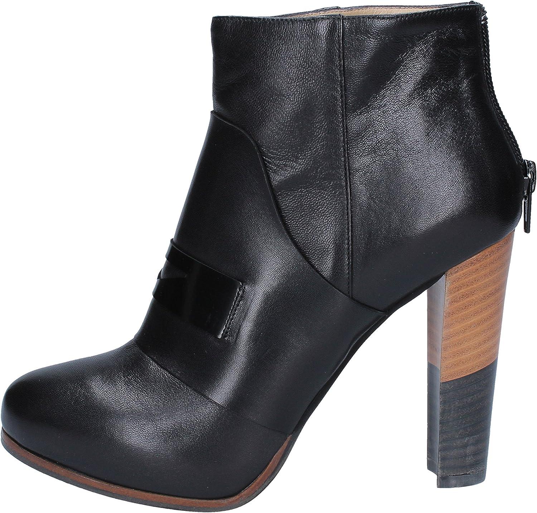 QESTE Boots Womens Leather Black