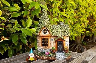 "Alpine Mystic Estates Fairy House with ""Elvin"" Gnome Figurine, 9 Inch Tall"