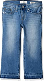 Jessica Simpson 女童 Big Cherish Crop 喇叭牛仔裤