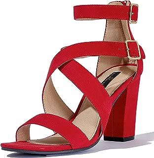 Best red suede open toe heels Reviews