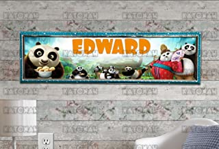 Customized Name Painting Kung Fu Panda Movie Poster With Your Name On It Personalized Banner With Hard Frame