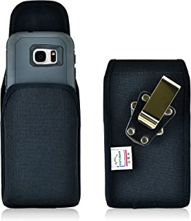 Turtleback Belt Clip Case for Galaxy S7 Black Vertical Holster Nylon Pouch with Heavy Duty Rotating Belt Clip Made in USA