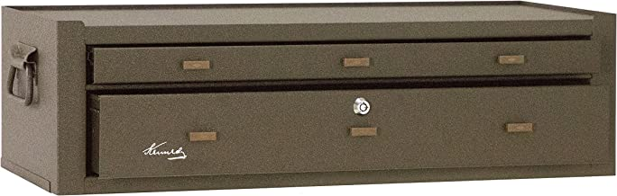 Kennedy Manufacturing MC28B 2-Drawer Machinist's Steel Tool Storage Chest Base with Friction Slides, 28