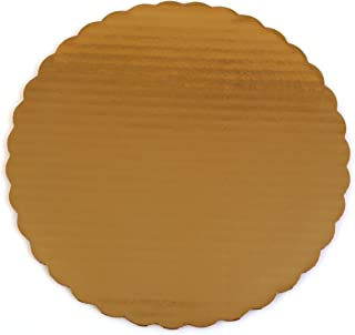 "Southern Champion Tray 1625 14"" Sturdy Corrugated Single Wall Cake Circle, Greaseproof, Gold Metallic (Case of 100)"