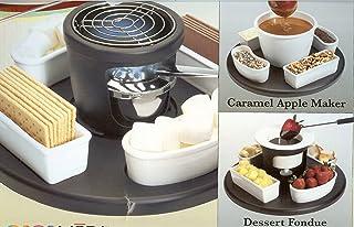 Fondue Dessert Smores Maker: Casa Moda 3 Sets in 1 Box ~ Dessert Center ~ S'mores, Chocolate Fondue, Caramel Apples & More ~ Lazy Susan Style