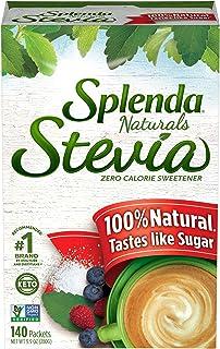 SPLENDA Naturals Stevia Sweetener: No Calorie, All Natural Sugar Substitute w/ No Bitter Aftertaste. Single Serve Granulat...