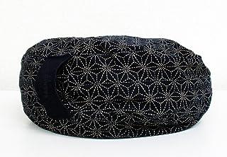 サンガ瞑想用坐布【普及版】 (ダークブルー/和柄)