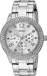 ساعة للنساء بمينا ذهبية وسوار ستانلس ستيل من جيس -W1097L1