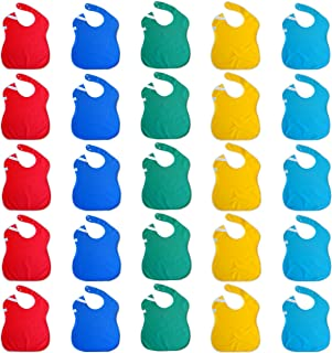 Toppy Toddler Waterproof Baby Bibs in Bulk with Snaps. Big Size. Wholesale 25-Pack
