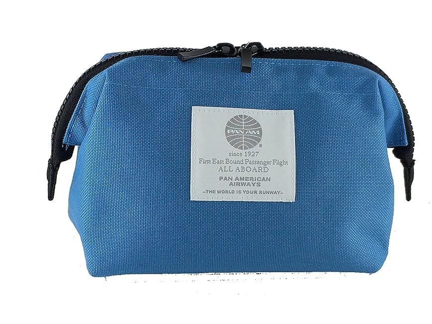 前に二度できればJTB商事 PAN AM (パンナム) トラベルポーチ Sサイズ ブルー 518071005