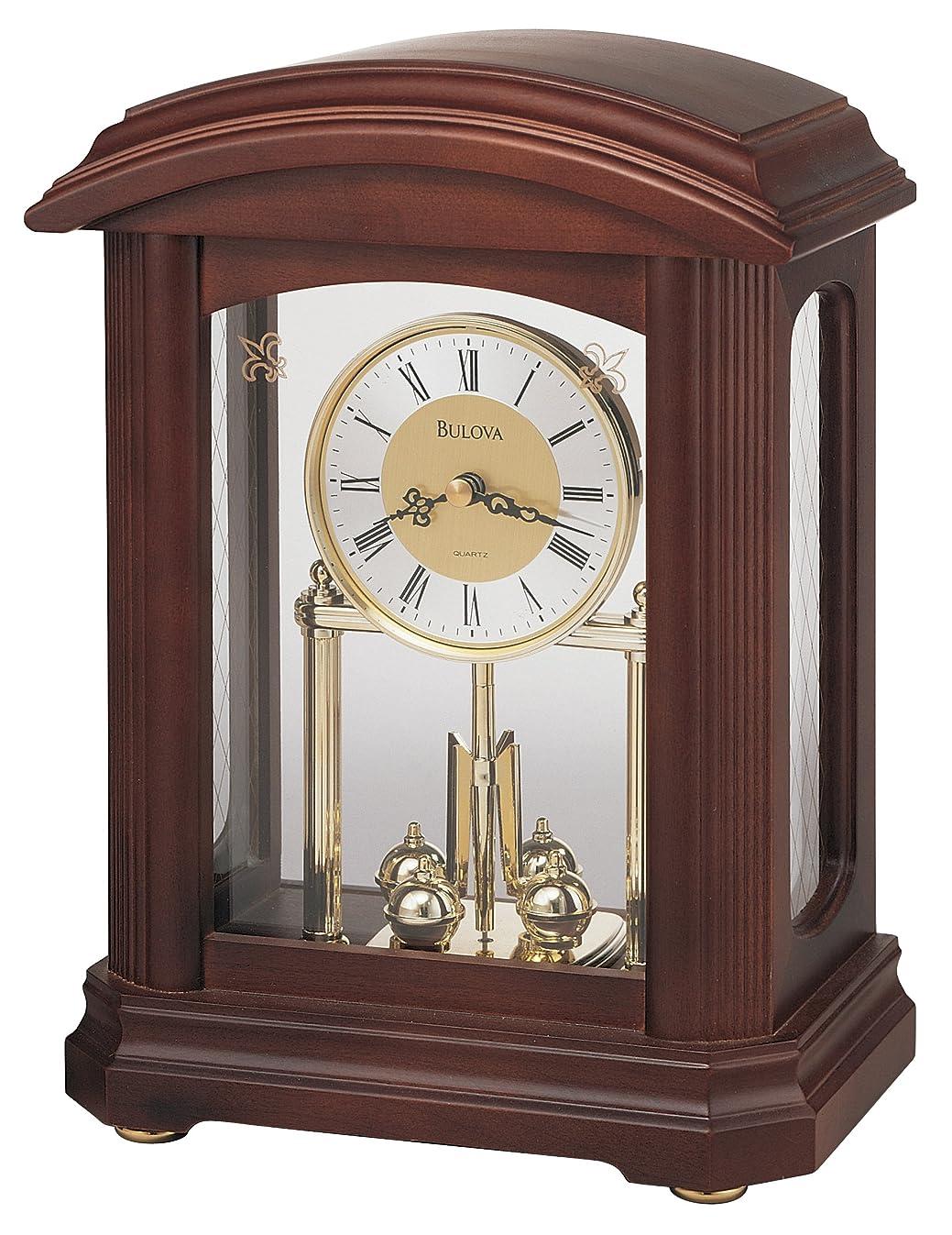 Bulova B1848 Nordale Clock, Walnut Finish
