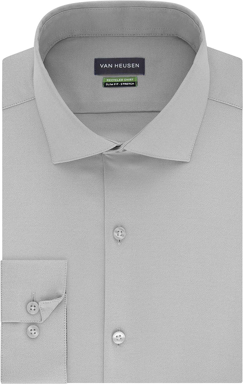 Van Heusen Men's Dress Shirt Slim Fit Stretch Solid