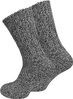 VCA, Juego de 2 pares de calcetines noruegos (calcetines de lana), tejidos, unisex