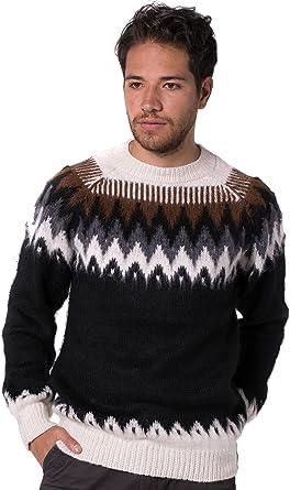 Gamboa -Maglione di Alpaca per Uomo - Fatto a Mano - Colori della Montagna