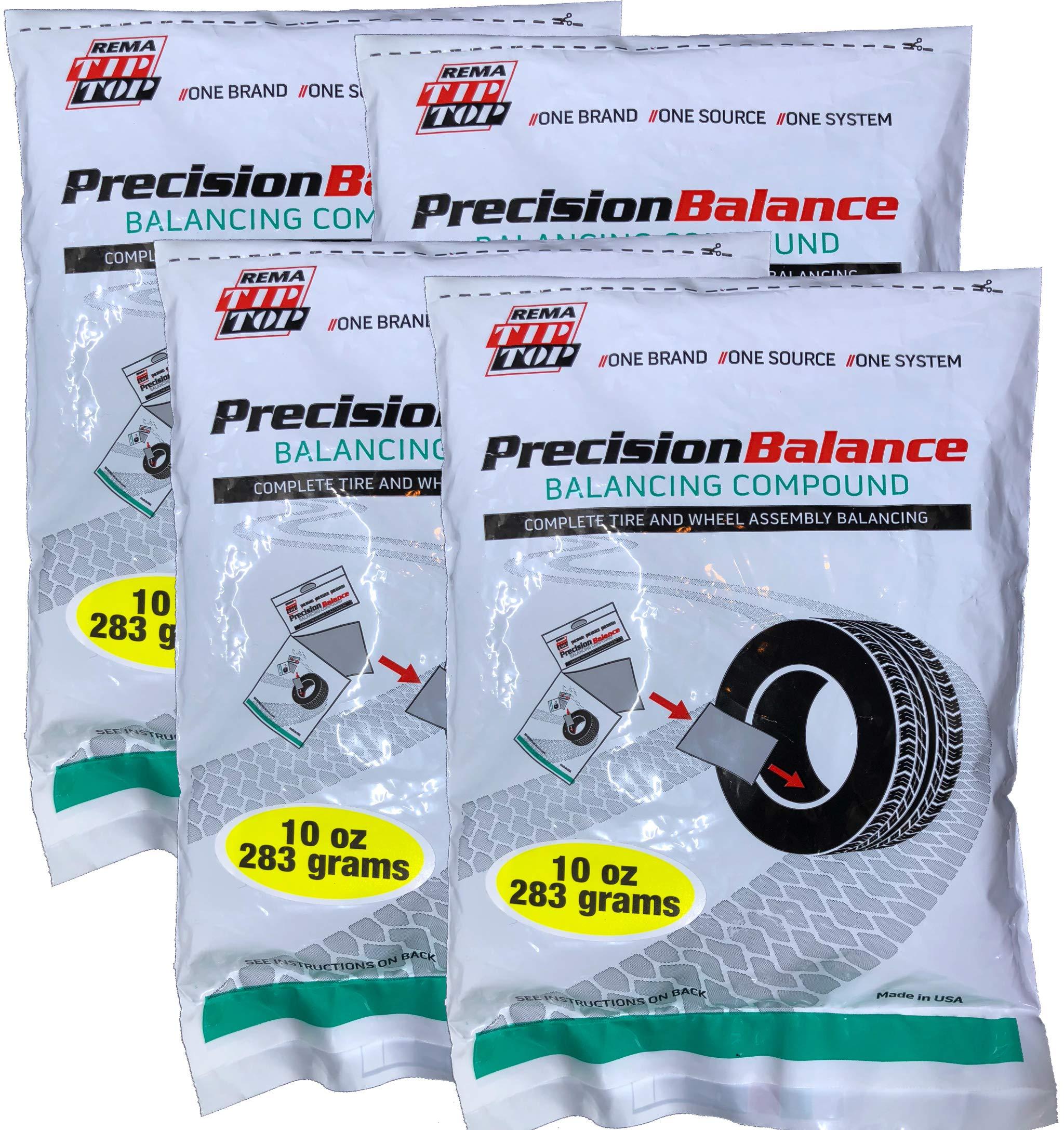 Drop in Bags - 4 Kits 5 oz. // 142 Grams Rema Tip Top 4 PrecisionBalance Tire Balancing Compound Beads Kits -