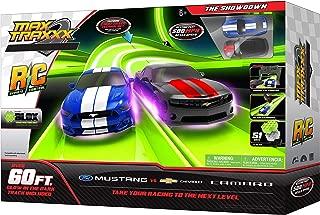 Max Traxxx Remote Control 'The Showdown' Ford Mustang vs Chevy Camaro Race Track Set