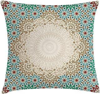 BAOLANZHANG Fundas para Almohada Rectangle Pillow Cover Case Ottoman Mosaic Art Pattern Oriental Floral Forms Antique Scroll Ceramic Boho Multi 18