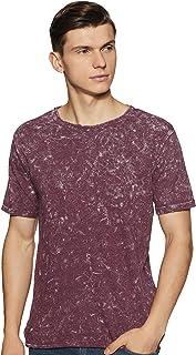 ABOF Men's Solid Slim Fit T-Shirt