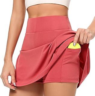 AINIC Women's Tennis Skirts with Shorts Athletic Skorts Golf Skort with Pockets Pleated Sports Skirt Active Skort Mini Ski...