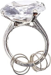 Homeford Firefly Imports Wedding Favors Acrylic Diamond Key Ring, Clear, 1-1/2-Inch, 1-1/2