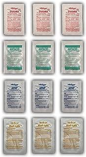 Stomach Relief Medicine Travel Kit with Antacid, Acetaminophen, Bismuth & Electrolytes