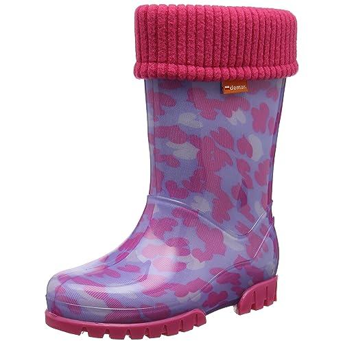 Cute Kids Bady Girls Wellies Wellington Boots Rainy Shoes Duck Rainboots