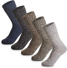 5Pack Womens Wool Socks Cold Weather Soft Warm Socks Thick Knit Cozy Crew Winter Socks