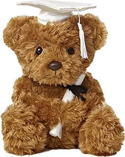 Aurora World Plush Graduation Bear, White Cap, 8.5
