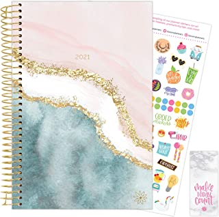 """bloom daily planners 2021 Calendar Year Day Planner (January 2021 - December 2021) - 6"""" x 8.25"""" - Weekly/Monthly Agenda Or..."""