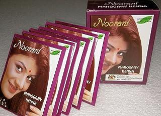 Noorani Mahogany Henna for Hair 6 X 10 Gms