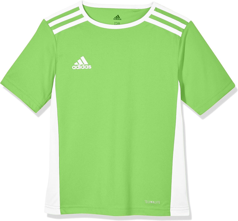 adidas Entrada 18 Jersey - Youth - Solar Green/White - Age
