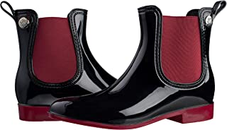 Women's Fashion Elastic Slip On Short Rain Boots