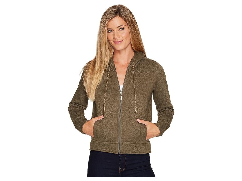 Prana Ari Zip-Up Fleece Jacket (Cargo Green) Women