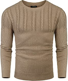 Men's Knitted Sweaters Casual Crewneck Slim Fit Long Sleeve Pullover Knitwear