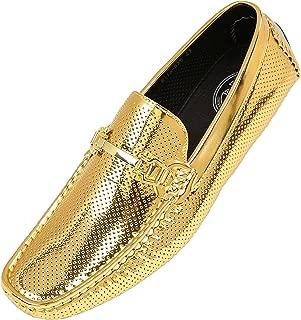 Rila Moccasins for Men – Mens Metallic Dress Shoes - Men's Slippers - Tuxedo Shoes - Mens Slip on Shoes - Designer Mens Driving Shoes